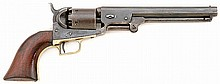 Colt 1851 Navy First Model Square Back Screw-Under-Wedge Revolver