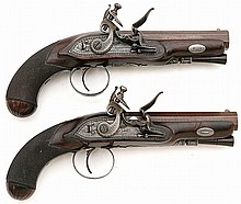 Fabulous Pair of Small Flintlock Pistols by H.W. Mortimer of London