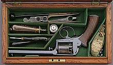Cased Adam's Patent Percussion Revolver by Deane, Adams & Deane of London