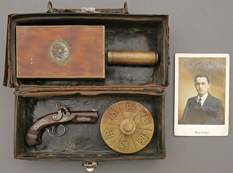 Modern Deringer Percussion Pocket Pistol and Assembled Gambl