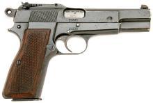 Pre-War Belgian Army Hi-Power Semi Auto Pistol by FN