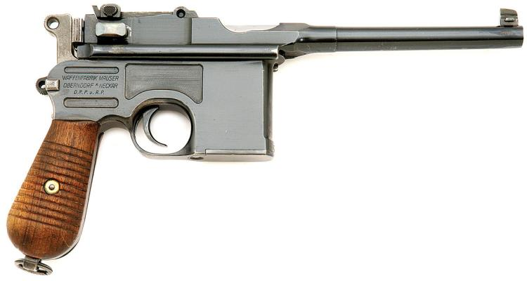 german c96 broomhandle pistol by mauser oberndorf