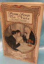 Antique Sawtay Book of Recipes & Reasons titled From Soup to Nuts