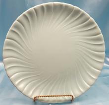 Vintage Franciscan ware Coronado Aqua Swirl Chop Plate