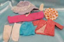 (9) Pieces of Vintage Doll Clothing = Barbie clothing and more