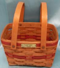 Longaberger Christmas Collection 1992 Edition Season's Greetings Basket