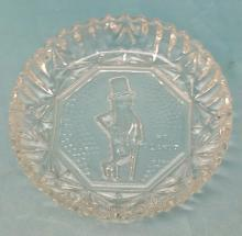 Vintage Mr. Peanut Advertising Glass Bowl by Federal Glass in the Pioneer Pattern.