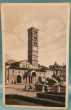 Vintage 1937 Postcard depicting the Santa Maria in Cosmedin Church in Rome