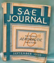 Vintage September 1930 S.A.E. Journal - National Aeronautic Meeting