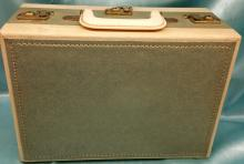 Vintage Sewing Chest with Storage and Keys.