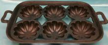 Antique/Vintage Cast Iron Cornbread / Muffin/Popover Cake Pan