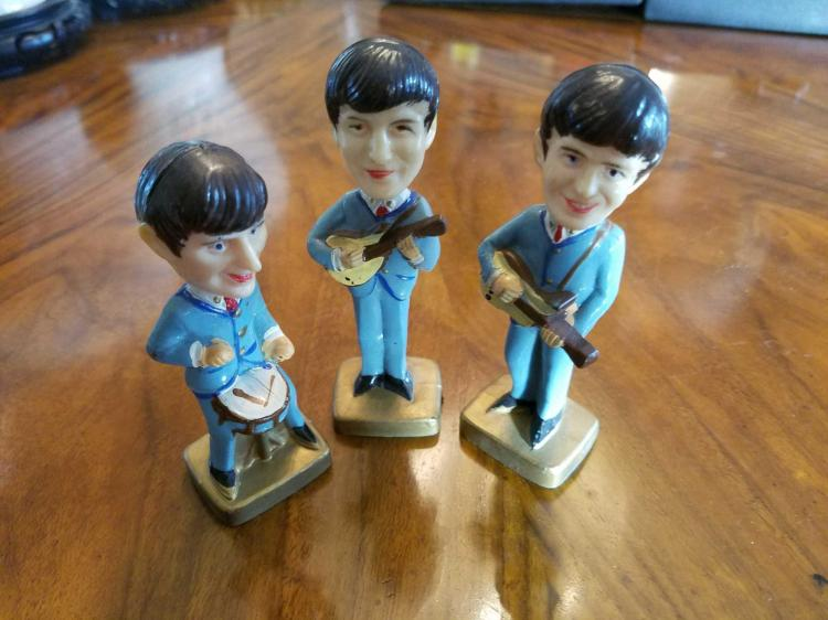 Group of 3 Beatles Collectible Bobblehead Figures