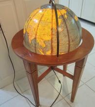 Cram Illuminated Globe with stand