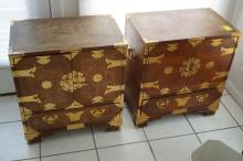 Pair of Tansu style small chests