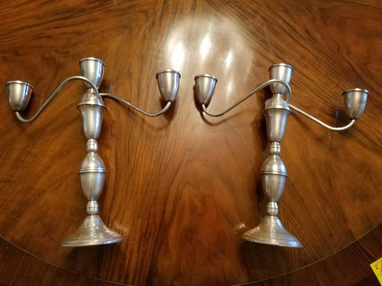 Pair of Duchin Weighted Sterling Candelabra