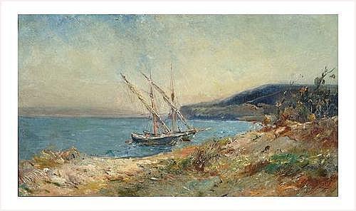 NOIROT Emile (1853-1924) LE LAVANDOU, 1902 Huile
