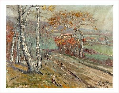 DREVON Jean (1899-1978) PAYSAGE DU DAUPHINE EN