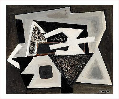 TABLEAUX Raymond GUERRIER (1920-2002) Composition