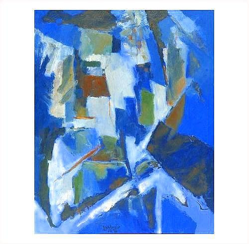 TABLEAUX: Jean CHEVALIER (1913-2002) îIL BLEU