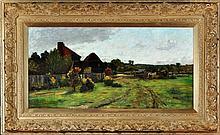 John Leslie Thomson (1851-1929) A COUNTRY SCENE WITH A FARM