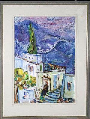 Catriel Efrony (b.1923 Austrian) VIEW IN ZFAT