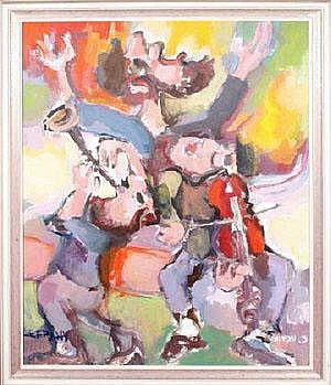 Catriel Efrony (b.1923 Austrian) KLESMERIM - THREE