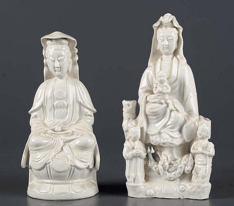A Dehua figure of Guanyin, probably 19th Century,
