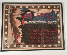 Swiss National Art Exhibition Poster by Hans Sandreuter, circa 1898