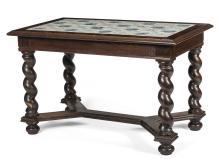 Dutch Baroque Style Delft Tile Top Table