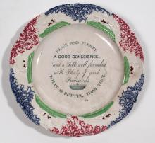 Peace and Plenty Staffordshire Plate
