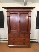 Arts & Crafts Period Architectural Armoire