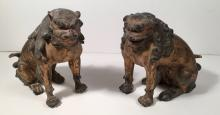 Pair of Guardian Lion or Foo Dogs