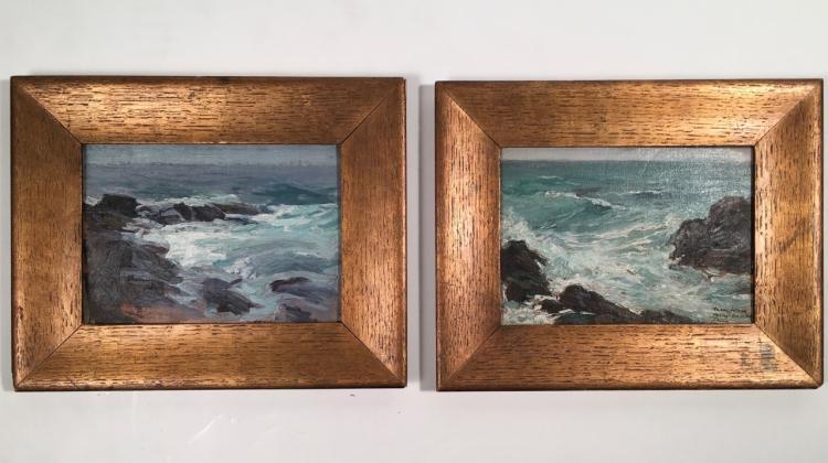 Pair of Cape Ann School Seascape Paintings