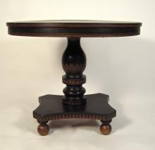 American Neoclassical Stencil Decorated Tilt Top Table