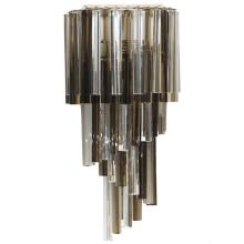 Venini Glass Prism Cascading Wall Sconce
