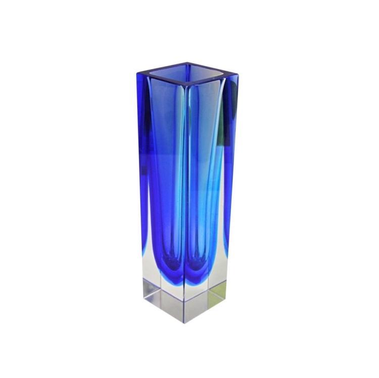 Mandruzzato Double Sommerso Murano Glass Vase