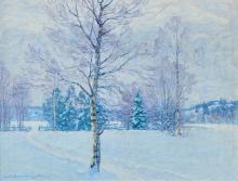Carl August Johansson (1863-1944) Winterlandschaft 'Hammerstrand Schweden'