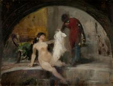 "ALEJANDRO FERRANT Y FISCHERMANS 1843 / 1917 ""The Pompeian Bath"""