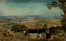 """ALEJANDRO FERRANT Y FISCHERMANS 1843 / 1917 """"View of La Coruña"""""""