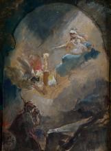 "ALEJANDRO FERRANT Y FISCHERMANS 1843 / 1917 ""The Coming of the Virgin of Pilar"""