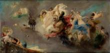 "ALEJANDRO FERRANT Y FISCHERMANS 1843 / 1917 ""Sketch of a roof"""
