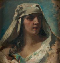 """ALEJANDRO FERRANT Y FISCHERMANS 1843 / 1917 """"Sibyl"""""""