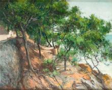 """JOSE VENTOSA DOMENECH (1897 / 1982) """"Pinar de Andraitx, Majorca"""", 1946"""