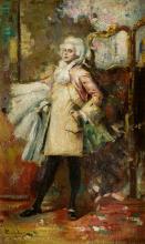 "SALVADOR SÁNCHEZ BARBUDO (1857 / 1917) ""Eighteenth-century figure"""