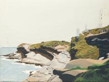"EDUARDO SANZ (1928 / 2013) ""Coastal landscape with lighthouse"", 1986"