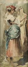 "ALEJANDRO FERRANT Y FISCHERMANS (1843 / 1917) ""Woman."""