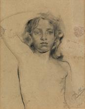 "EUGENIO OLIVA Y RODRIGO ""Young Woman's Nude Studio"""
