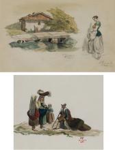 "ALEJANDRO FERRANT Y FISCHERMANS (1843 / 1917) ""Traditional sceenes"""