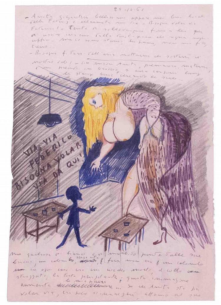 Federico Fellini, Anita/Riccardo, 1961, Libro dei Sogni