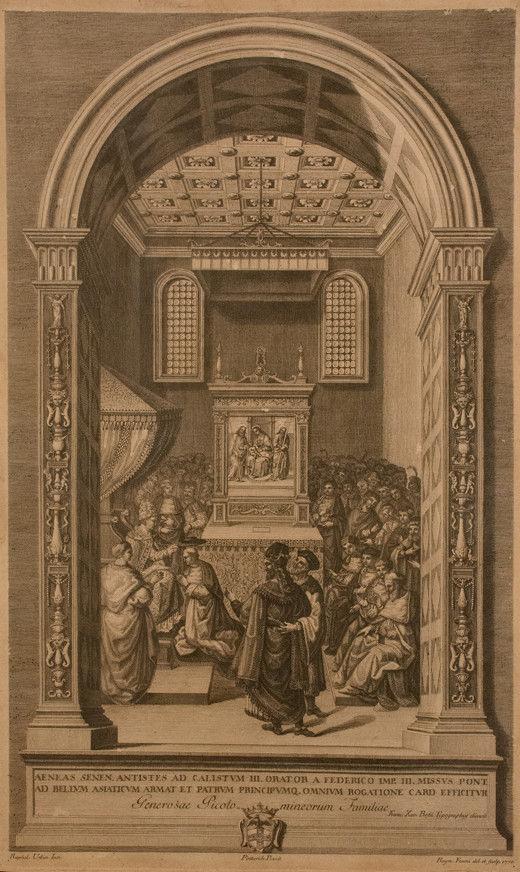 Raimondo Faucci  (Dal Pinturicchio), 1770-1771 <br> Storie di papa Pio II